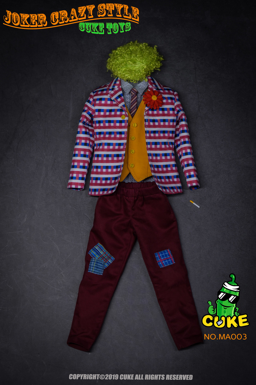 NEW PRODUCT: Cuke Toys: [CK-MA003] 1/6 Joker Crazy Style Clothing Set Ck-ma022