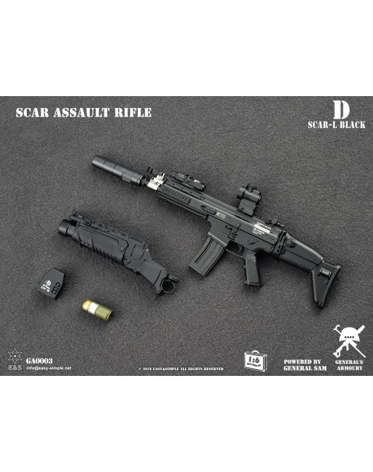 NEW PRODUCT: General's Armoury GA003 1/6 Scale SCAR Assault Rifle in 4 styles D-3-5210