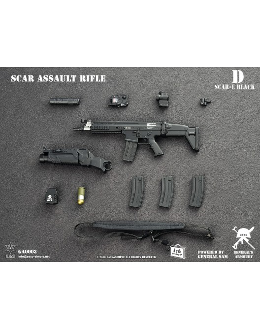NEW PRODUCT: General's Armoury GA003 1/6 Scale SCAR Assault Rifle in 4 styles D-4-5210