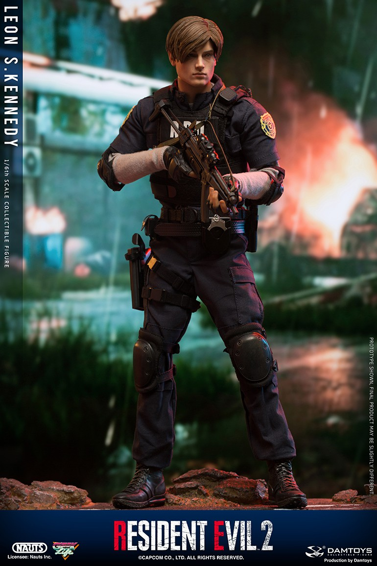 "Sci-Fi - NEW PRODUCT: NAUTS & DAMTOYS: 1/6 ""Resident Evil 2""-LEON S.KENNEDY/Lyon S. Kennedy remake #DMS030  D0b72c10"