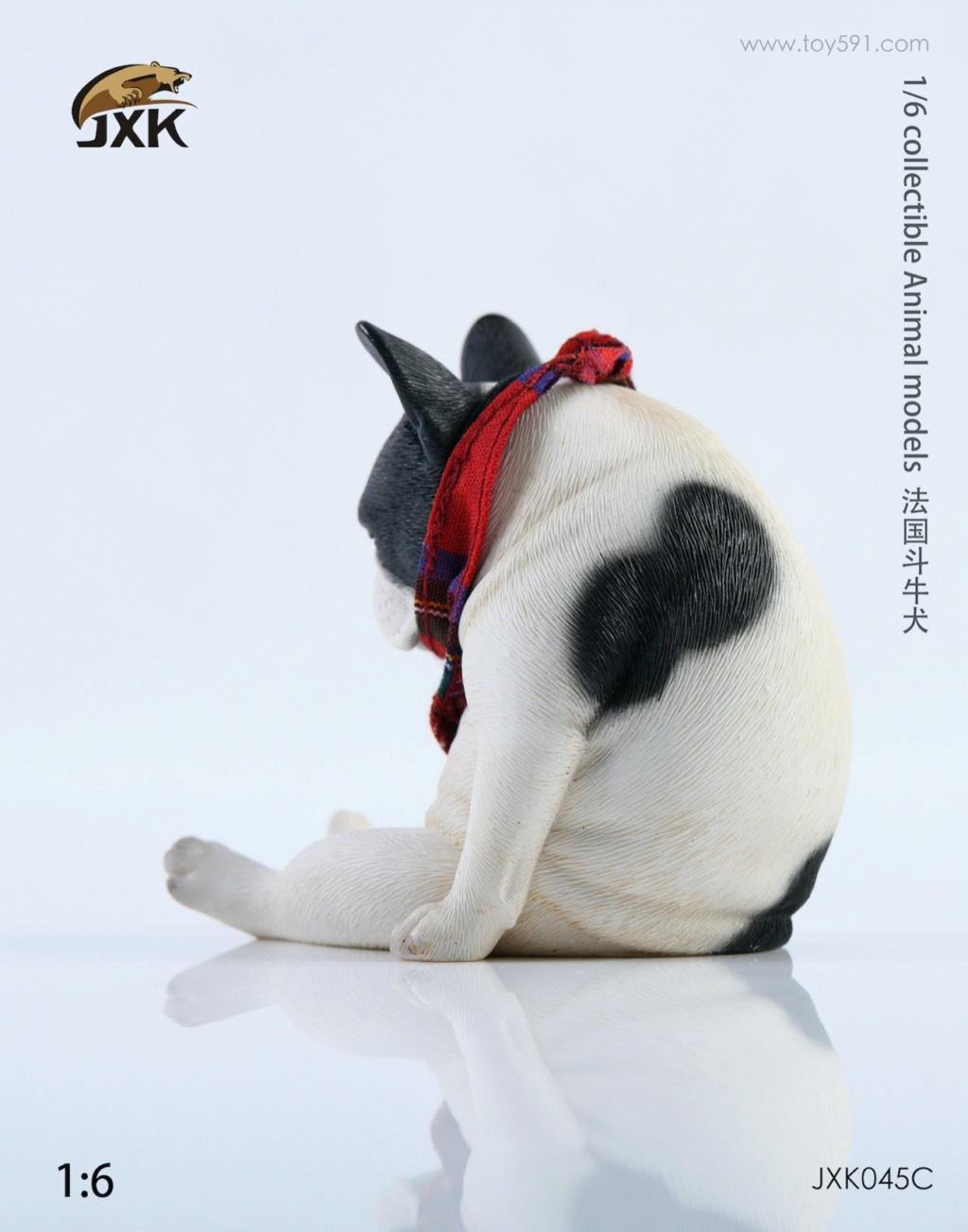 Dog - NEW PRODUCT: JXK 1/6 Decadent Dog JXK045 French Bulldog + Scarf D4a86810