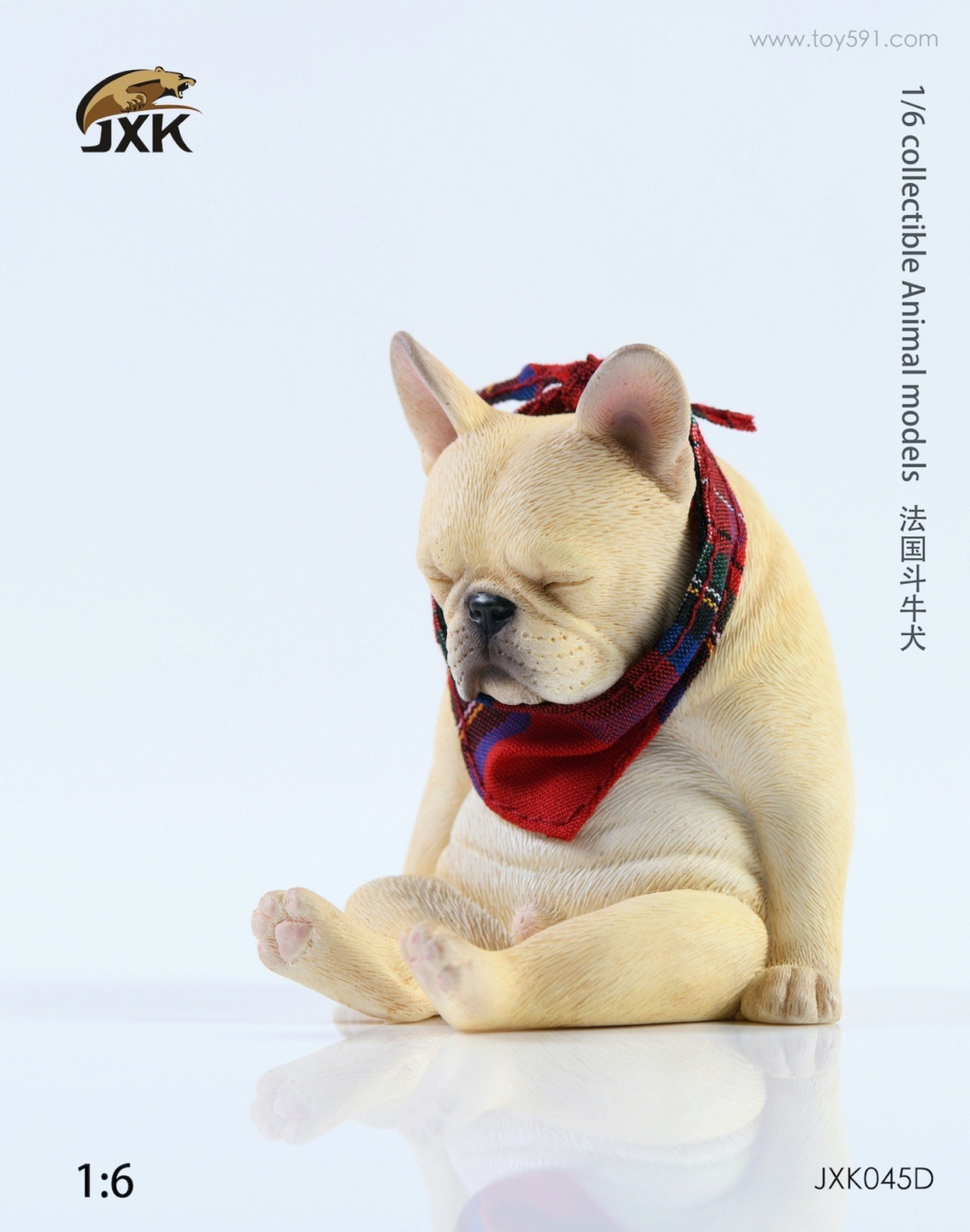 Dog - NEW PRODUCT: JXK 1/6 Decadent Dog JXK045 French Bulldog + Scarf Da7ac610