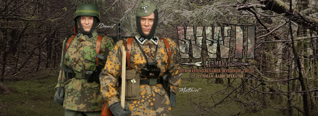 Dennis - NEW PRODUCT: DiD: 20th Waffen Grenadier Division Of The SS (1st Estonian) Radio Operator (Dennis - Version A) & (Matthias - Version B) Did-d811