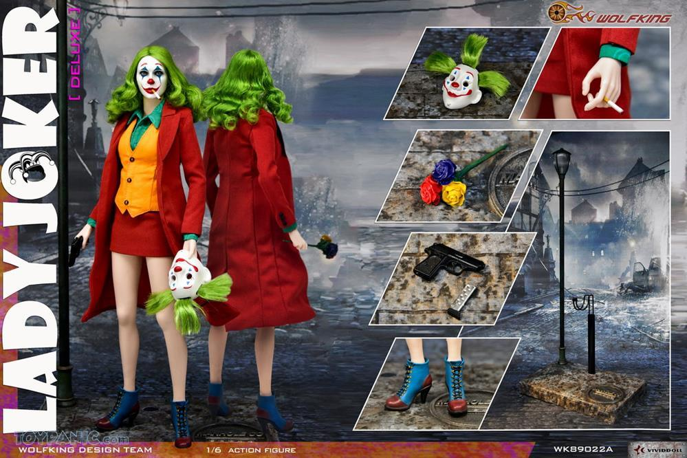 WolfKing - NEW PRODUCT: Wolfking: 1/6 scale Female Joker figure (Standard and Deluxe Editions) E55b6810