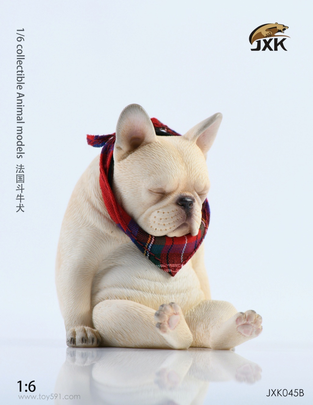 Dog - NEW PRODUCT: JXK 1/6 Decadent Dog JXK045 French Bulldog + Scarf Eca7b210