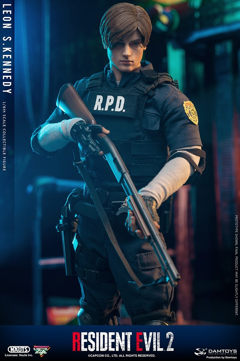 "Sci-Fi - NEW PRODUCT: NAUTS & DAMTOYS: 1/6 ""Resident Evil 2""-LEON S.KENNEDY/Lyon S. Kennedy remake #DMS030  F030d510"