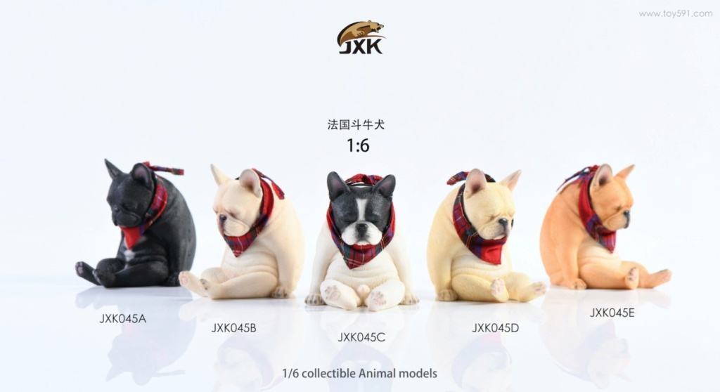 Dog - NEW PRODUCT: JXK 1/6 Decadent Dog JXK045 French Bulldog + Scarf F0b8de10