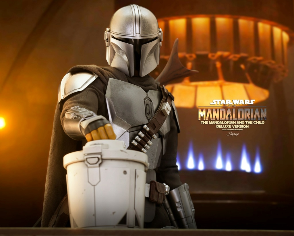 Sci-Fi - NEW PRODUCT: HOT TOYS: THE MANDALORIAN THE MANDALORIAN AND THE CHILD 1/6TH SCALE COLLECTIBLE SET (Standard and Deluxe) F1d34e10