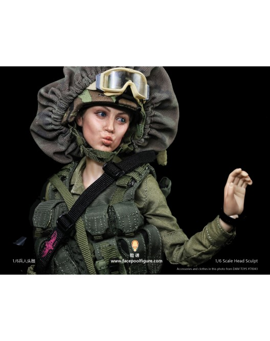NEW PRODUCT: FacepoolFigure 1/6 Female Head Sculpt - FP-H-003 H0034-10