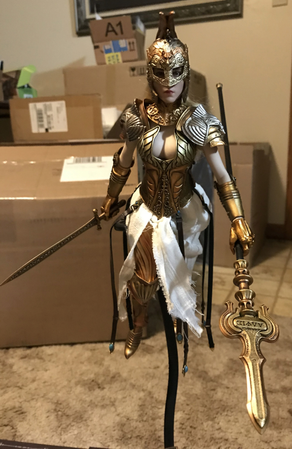 "CooModel - NEW PRODUCT: COO MODEL X HOMER 1/6th scale PANTHEON Athena Goddess of War 12"" Collectible Figure Img_8165"