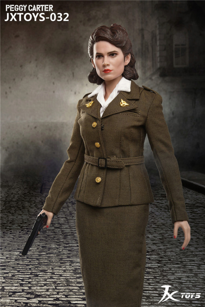 NEW PRODUCT: JX Toys: 1/6 Scale Army Officer Peggy Figure Jxt-0310