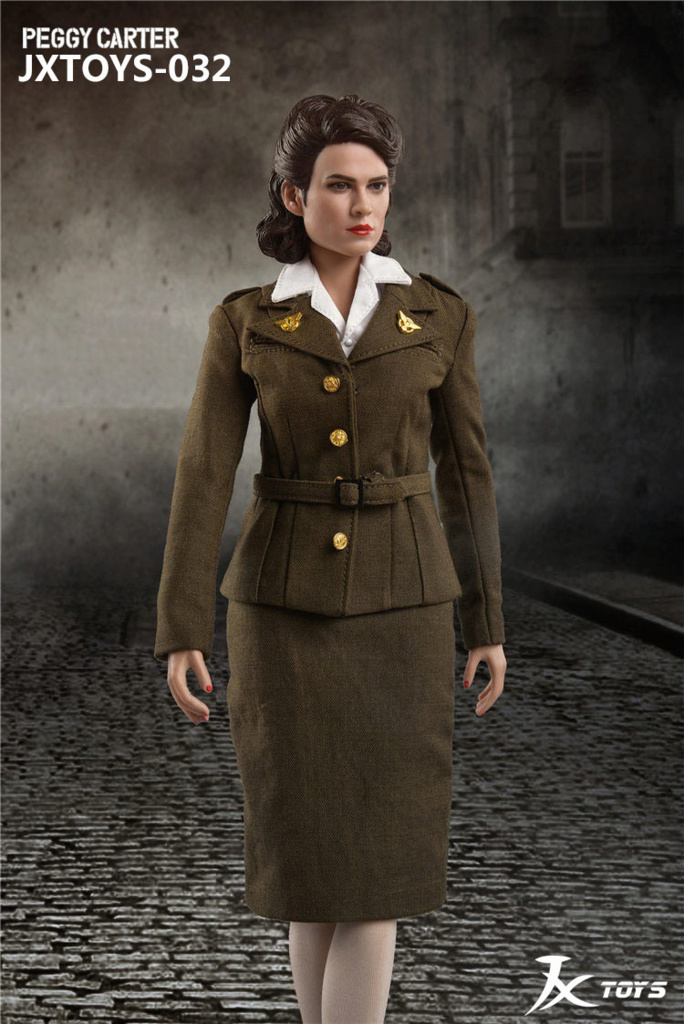 NEW PRODUCT: JX Toys: 1/6 Scale Army Officer Peggy Figure Jxt-0314