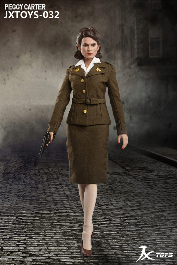 NEW PRODUCT: JX Toys: 1/6 Scale Army Officer Peggy Figure Jxt-0315
