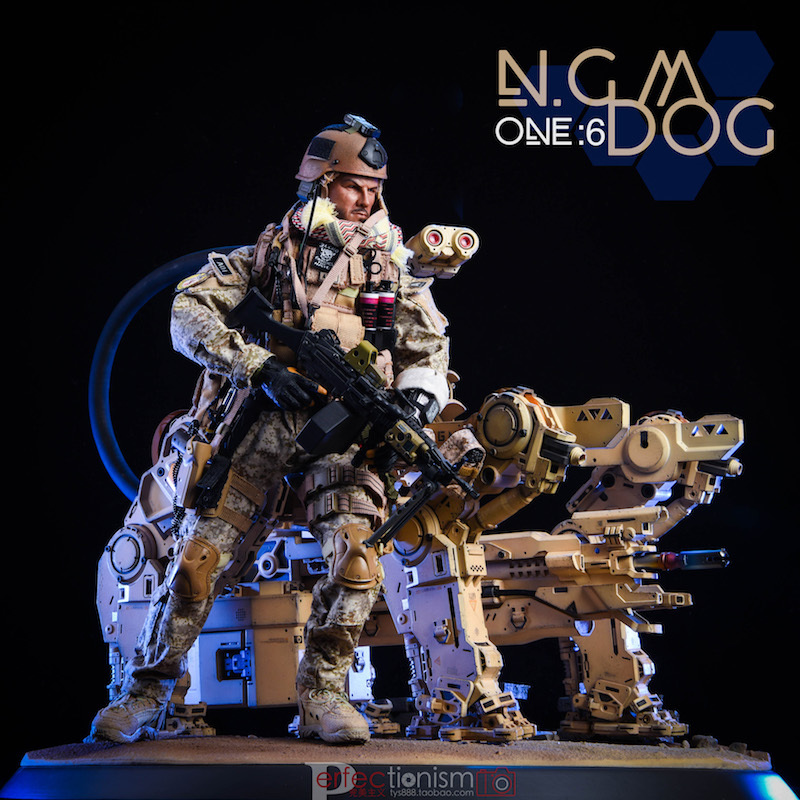 NEW PRODUCT: C-PLAN N.G.M. MILITARY MECHANICAL HOUND 1/6 SCALE POSABLE MODEL FIGURE O1cn0114