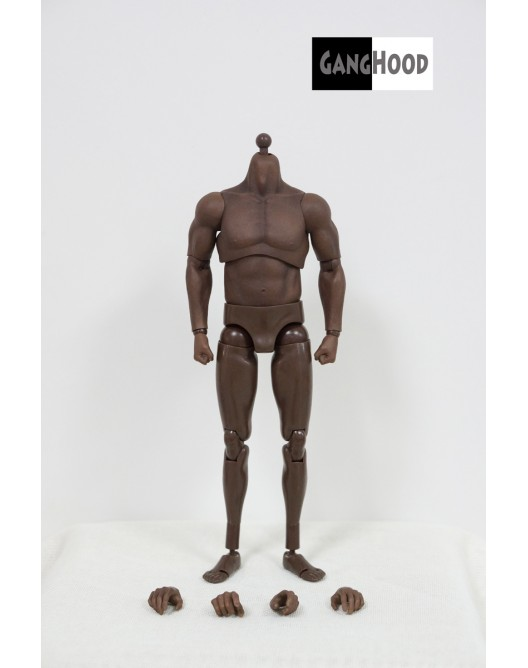 NEW PRODUCT: GangHood 1/6 Scale Black Muscular Body 1.0B Version Qqo20111