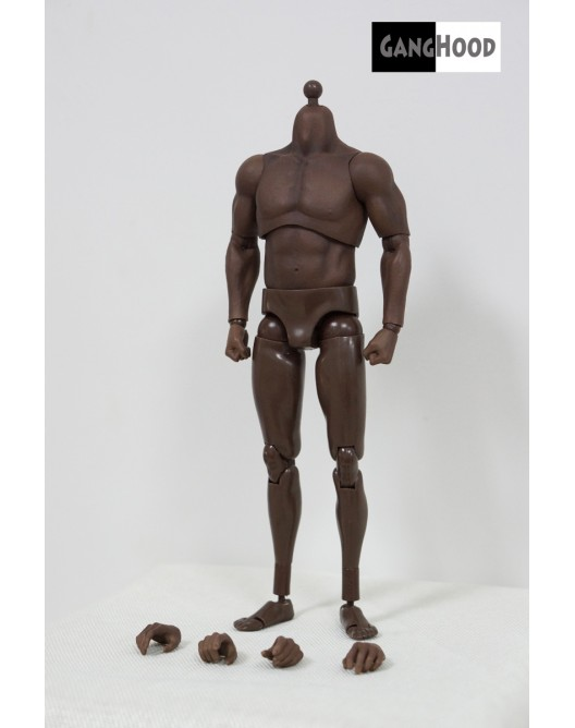 NEW PRODUCT: GangHood 1/6 Scale Black Muscular Body 1.0B Version Qqo20112