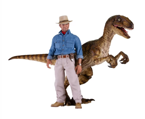 jurassicpark - NEW PRODUCT: Chronicle Collectibles: JURASSIC PARK OneSixth Dr. Alan Grant, Velociraptor & Bundle (2-pack) Scree300