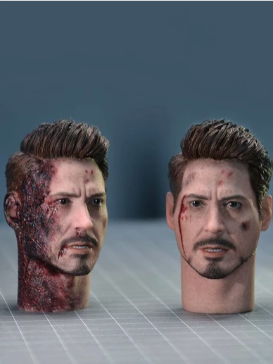 headsculpt - NEW PRODUCT: 1/6 TOP-005 Tony Head Sculpt 2 PC w/neck For Mark 50 Scree464