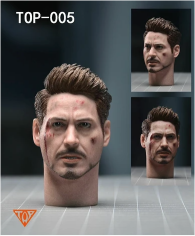 headsculpt - NEW PRODUCT: 1/6 TOP-005 Tony Head Sculpt 2 PC w/neck For Mark 50 Scree466