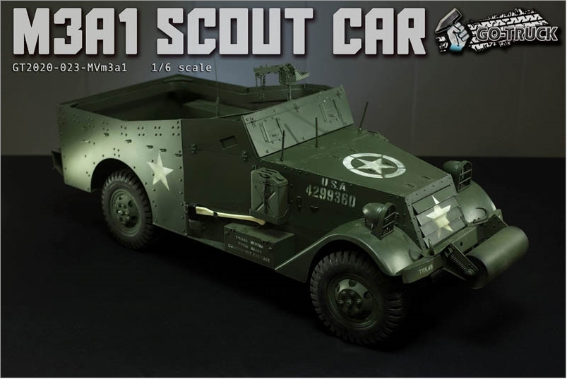 NEW PRODUCT: Go Truck: M3A1 SCOUT CAR - WORLD WAR II - 1/6 SCALE VEHICLE Scree643