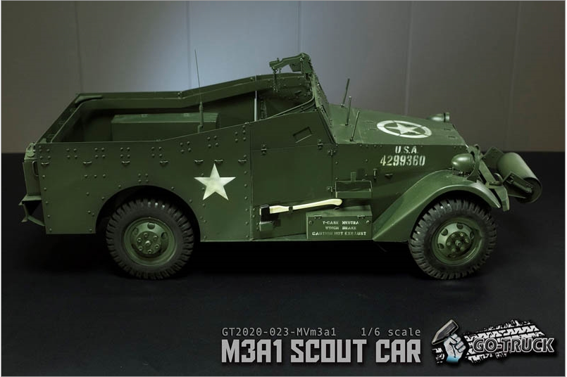 NEW PRODUCT: Go Truck: M3A1 SCOUT CAR - WORLD WAR II - 1/6 SCALE VEHICLE Scree644