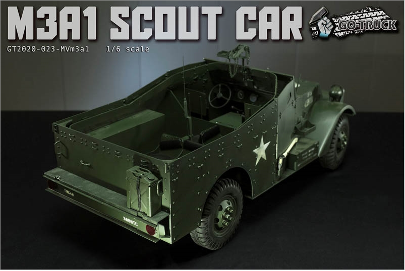 NEW PRODUCT: Go Truck: M3A1 SCOUT CAR - WORLD WAR II - 1/6 SCALE VEHICLE Scree645
