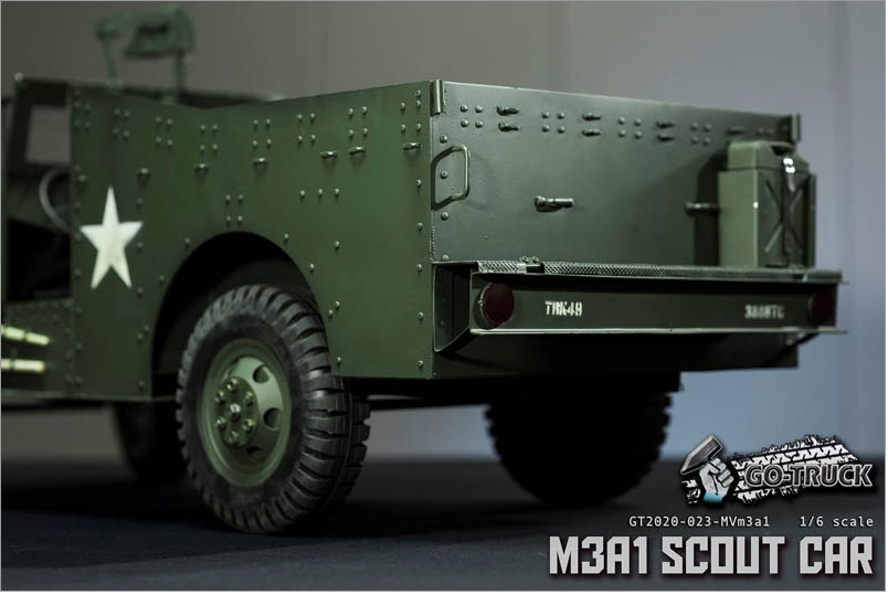 NEW PRODUCT: Go Truck: M3A1 SCOUT CAR - WORLD WAR II - 1/6 SCALE VEHICLE Scree649