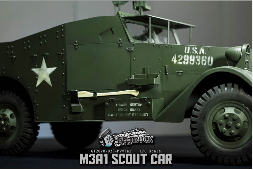 NEW PRODUCT: Go Truck: M3A1 SCOUT CAR - WORLD WAR II - 1/6 SCALE VEHICLE Scree650