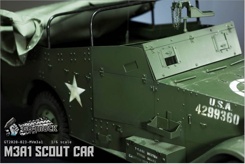 NEW PRODUCT: Go Truck: M3A1 SCOUT CAR - WORLD WAR II - 1/6 SCALE VEHICLE Scree651