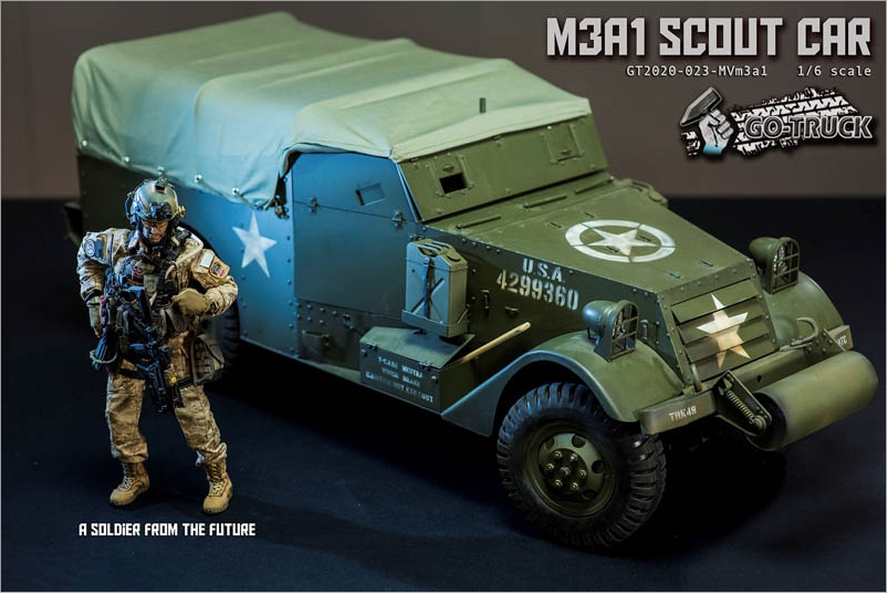 NEW PRODUCT: Go Truck: M3A1 SCOUT CAR - WORLD WAR II - 1/6 SCALE VEHICLE Scree653