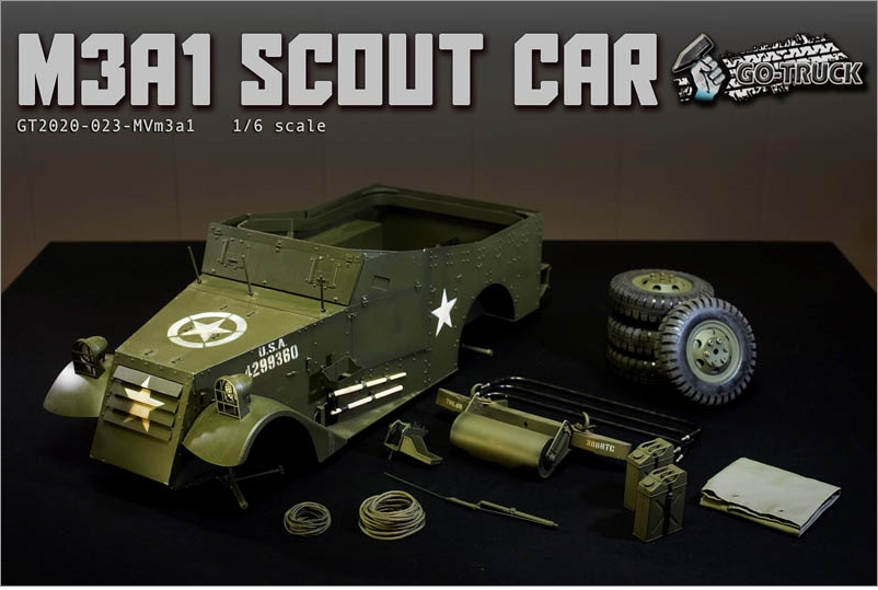 NEW PRODUCT: Go Truck: M3A1 SCOUT CAR - WORLD WAR II - 1/6 SCALE VEHICLE Scree655