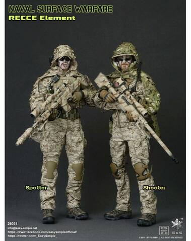 1//6 Scale Easy /& Simple NSW action directe Brècheur Combat Uniforme Lot