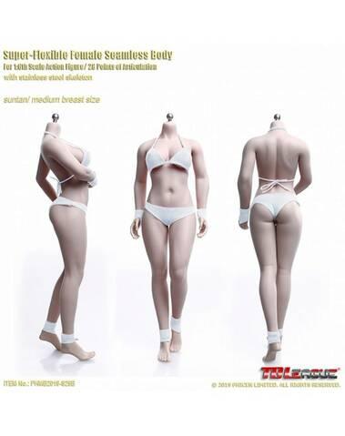 JIAOU Doll 1//6 Little Girl Small Breast Suntan//Pale//Tan Skin Steel Skeleton Body