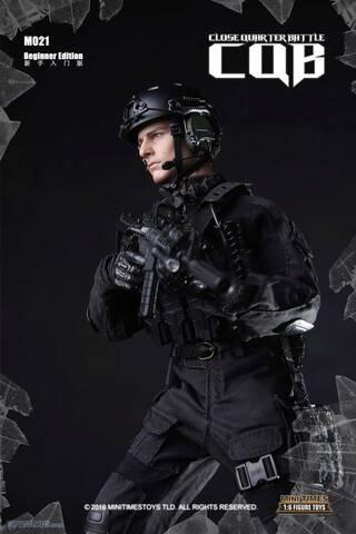 1//6 Scale Mini Times Action Figure Black Combat Uniform Close Quarter Battle