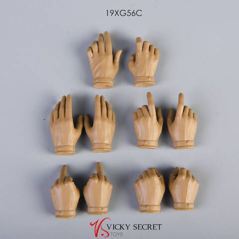 "VStoys 1//6 Grip Gun Gloves Pale Hands Fit 12/"" Phicen TBleague Female Figure Body"