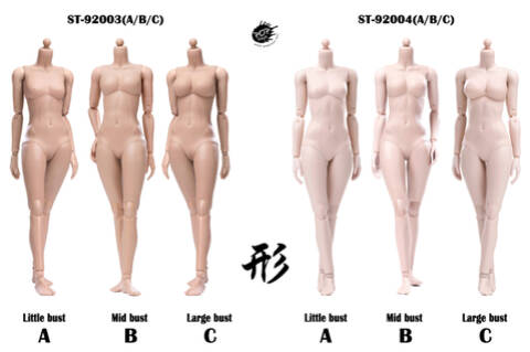 POPTOYS 92004 1//6 XING Series mid breast Plastic Joints woman Pale Body Toy