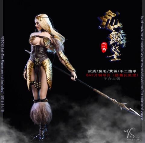 VSTOYS 1//6 18XG32 B  Dragon Scale Female Warrior Set Accessories
