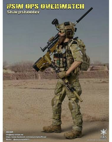 Easy/&Simple 26036R 1//6 Scale NSW OPS OVERWATCH Sharpshooter