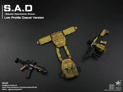 SAW-K for EASY/&SIMPLE ES 26038R S.A.D Special Operation Group 1//6 Scale Figure