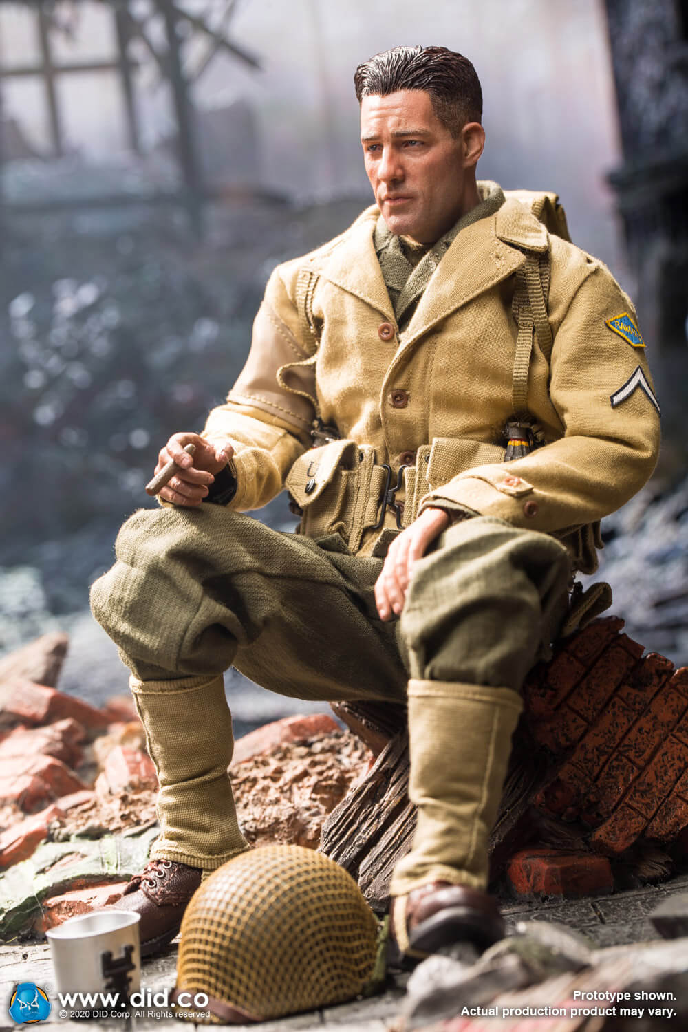 male - NEW PRODUCT: DiD: A80141 WWII US 2nd Ranger Battalion Private First Class Reiben 1/6 scale figure Us-2nd19