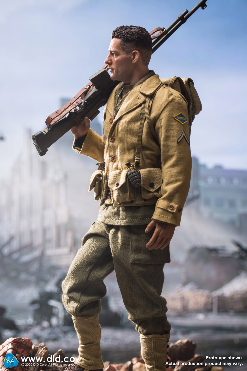 male - NEW PRODUCT: DiD: A80141 WWII US 2nd Ranger Battalion Private First Class Reiben 1/6 scale figure Us-2nd20
