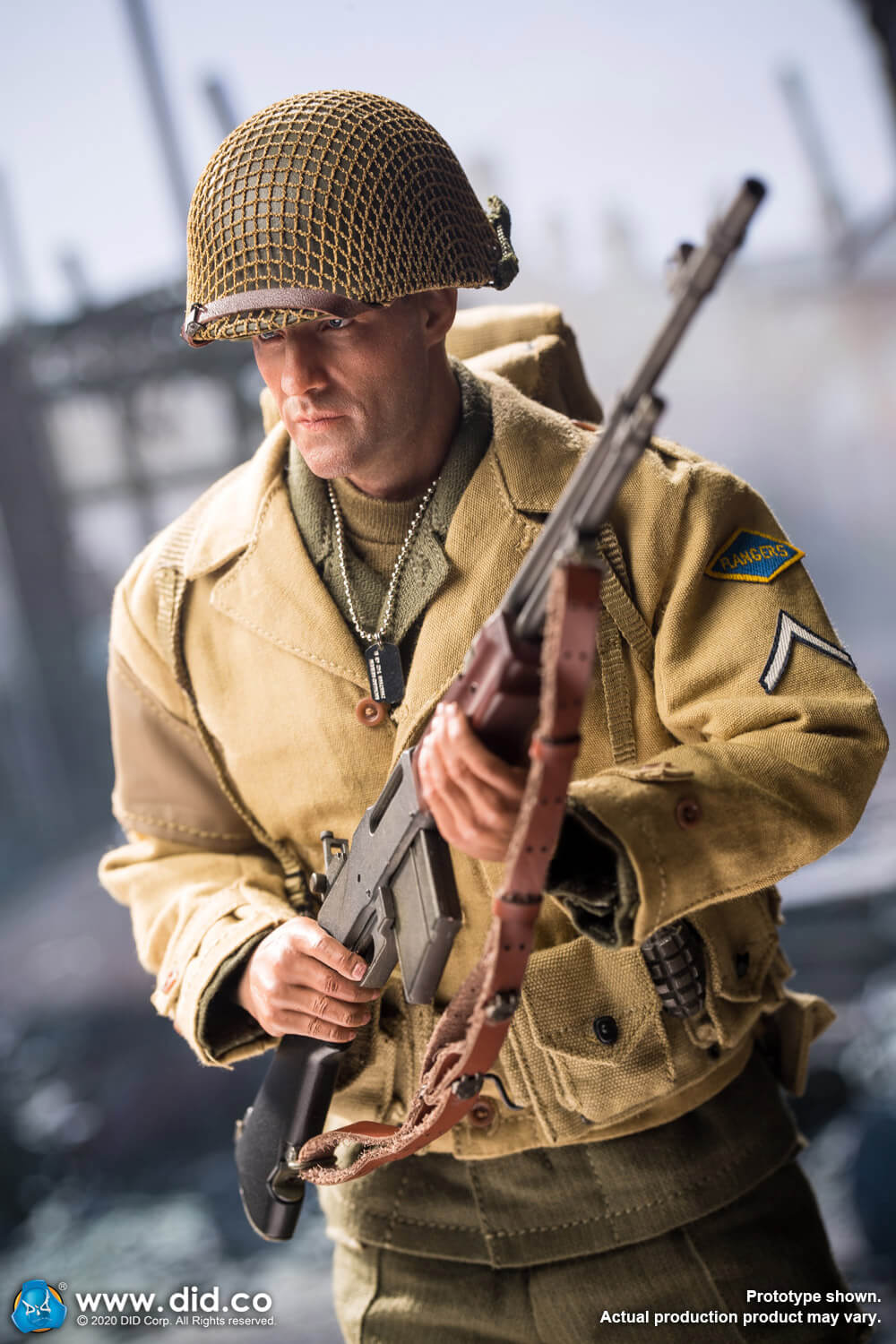 male - NEW PRODUCT: DiD: A80141 WWII US 2nd Ranger Battalion Private First Class Reiben 1/6 scale figure Us-2nd24