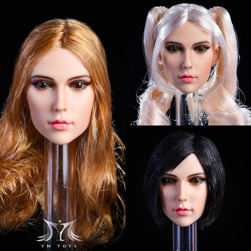NEW PRODUCT:YMToys: [YMT-17A, B, C] 1/6 Female Head (3 Styles) & YMT-18A, B, C (3 styles) Ymt-0148