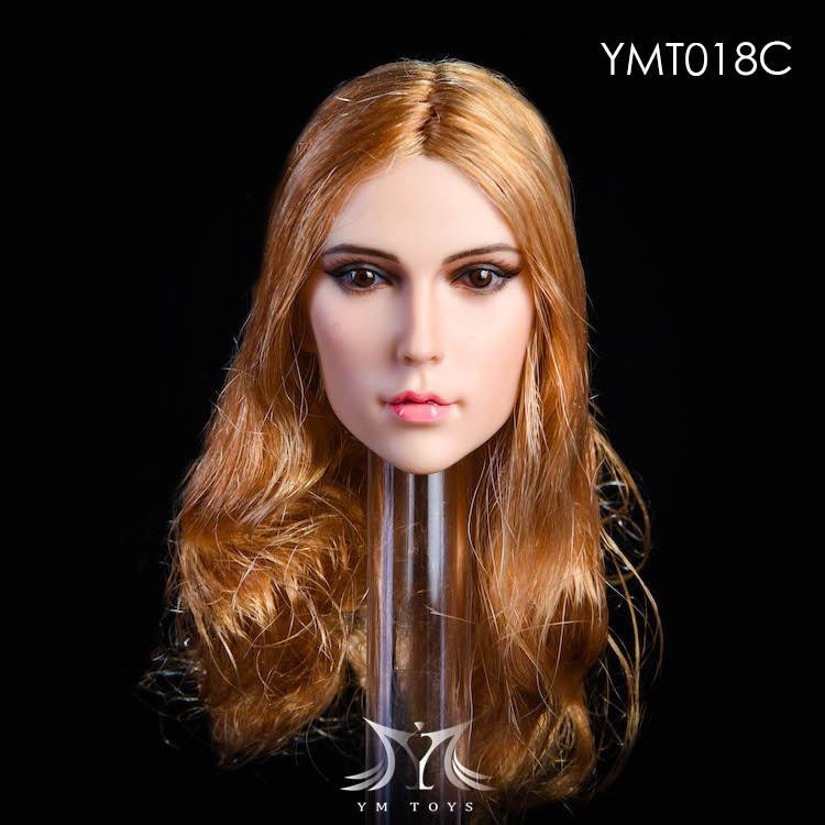 NEW PRODUCT:YMToys: [YMT-17A, B, C] 1/6 Female Head (3 Styles) & YMT-18A, B, C (3 styles) Ymt-0158