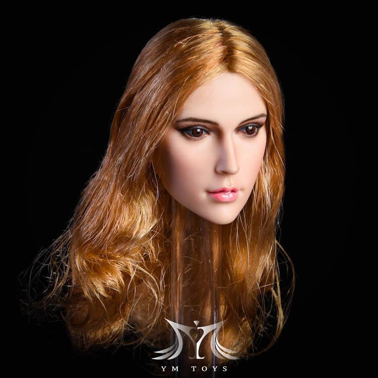 NEW PRODUCT:YMToys: [YMT-17A, B, C] 1/6 Female Head (3 Styles) & YMT-18A, B, C (3 styles) Ymt-0163