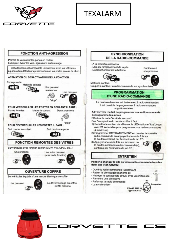 Programmation des télécommandes Texala12