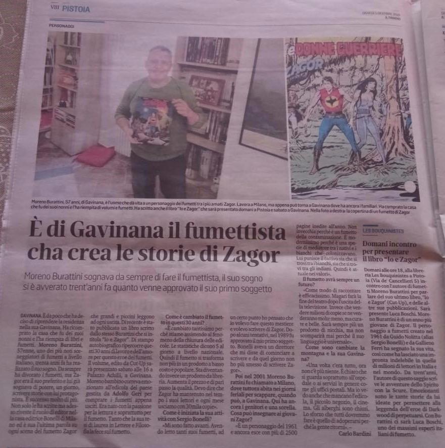 Articoli su quotidiani e riviste riguardanti Zagor  79962010