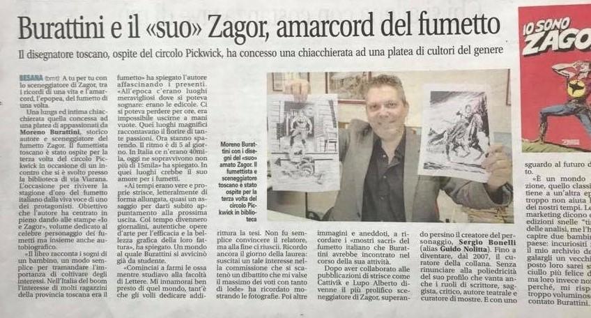 Articoli su quotidiani e riviste riguardanti Zagor  88093511