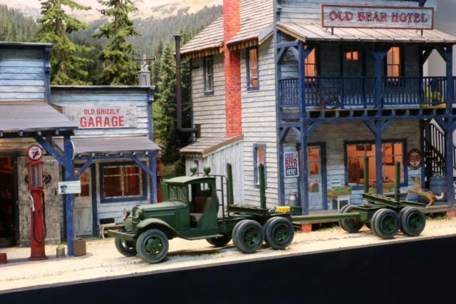 Un diorama US au 1/35 - Un garage et un hôtel quelque part en Oregon A_logg11