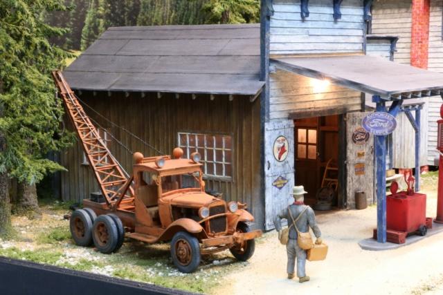 Un diorama US au 1/35 - Un garage et un hôtel quelque part en Oregon A_tow_11